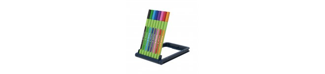 Line-Up Fineliners 0.4mm with Case stand, 8 pieces