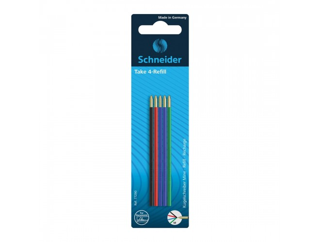 Take 4 Refill for 4-Color Ballpoint Pen M - Assorted (5)